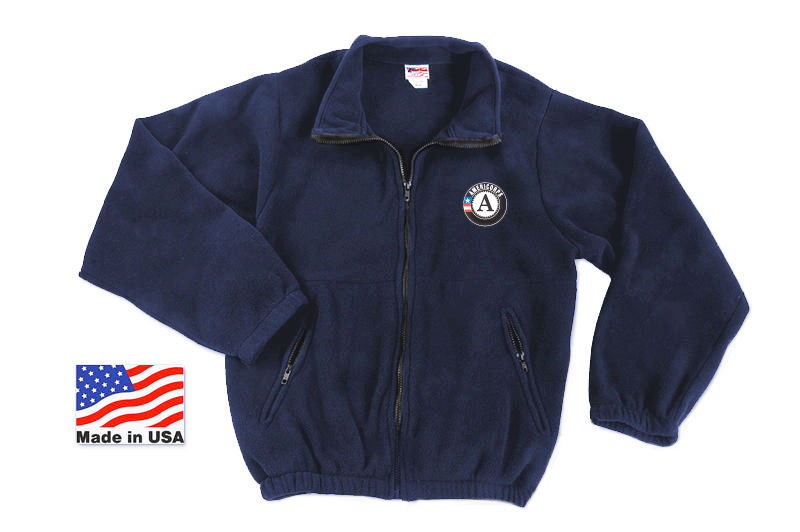 A/C Zippered Fleece Jacket - Royal Blue