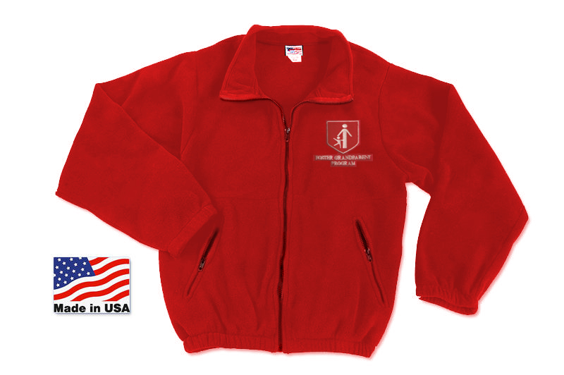 FGP Zippered Fleece Jacket - Red