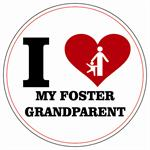 I Love My Foster Grandparent!!  Stickers 100 per Roll