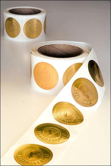 A/C Gold Foil Stickers 2